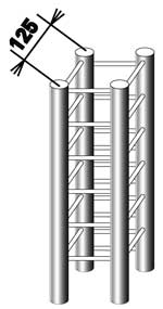 Связка из четырех хромированных труб ферменного стенда